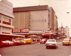Cubao, Avesco sign visible and Sampaguita theater (cctto) Regions Of The Philippines, Manila Philippines, Philippine Architecture, Sampaguita, Old World Charm, Pinoy, Filipino, Monuments, 1970s
