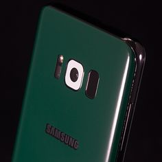 Samsung Galaxy S8 Plus - Jungle Green Gloss and White Gloss Skins