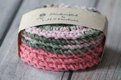 100% Cotton Crochet Face Scrubbies Bathroom by JLZCreations