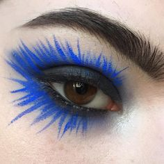 "105 Likes, 2 Comments - Tralee (@tralee.stack) on Instagram: ""This is my Easter look lmao @nyxcosmetics vivid brights liner in Sapphire Brows are…"""