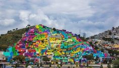 Gorgeous Rainbow Mural Connects Over 200 Homes In Mexico Neighborhood