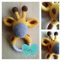 Crochet baby teething ring