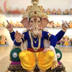 Ganesha Images – Ganpati Bappa HD Wallpapers Section and try to give you the best pictures/photos/images of Ganpati Bappa clicked by our team. Shri Ganesh Images, Ganesh Chaturthi Images, Ganesha Pictures, Radha Krishna Images, Baby Ganesha, Ganesha Art, Ganesh Idol, Happy Diwali Animation, Ganpati Bappa Wallpapers