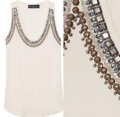 Декор одежды бусинами, бисером и стразами: 33 идеи... Picture Search, Chain, Diamond, Pictures, Clothes, Jewelry, Decor, Kids, Fashion