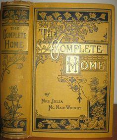 Antique Cookbook Victorian House Etiquette Home Decor Dress Social Business Love | eBay