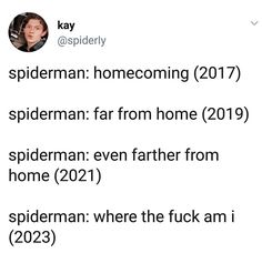 <<< Spiderman: Taken Home by Country Roads Avengers Memes, Marvel Memes, Marvel Dc Comics, Marvel Avengers, Haha, Dc Movies, We Have A Hulk, Marvel Funny, Marvel Cinematic Universe