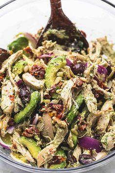 Greek Avocado Chicken Salad Healthy Dinner Ideas for Delicious Night & Get A Health Deep Sleep Healthy Recipes, Salad Recipes, Cooking Recipes, Juicer Recipes, Fast Recipes, Clean Eating, Healthy Eating, Menu Dieta, Paleo