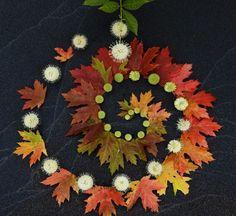 Black Sand Leaf Spiral by Sally J. Smith