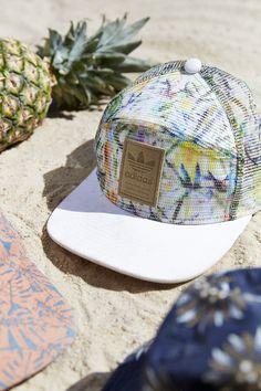 Adidas floral trucker cap leather logo badge Adidas Hat e054b11fee8