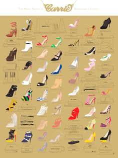 Have A Shoe-Gasm With This Infographic Of Carrie Bradshaw's Iconic Footwear   Co.Create   creativity + culture + commerce