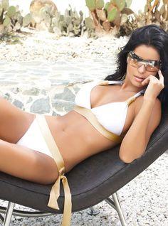 White Gold Digger Bikini