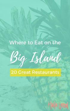 Where to Eat on the Big Island: 20 Big Island Restaurants - Hulaland Best Hawaiian Island, Big Island Hawaii, Hawaiian Islands, The Big Island, Hawaii Honeymoon, Hawaii Vacation, Hawaii Travel, Honeymoon Spots, Honeymoon Destinations