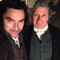 """ITV Studios (@itvstudios) on Instagram: """"Check out this #exclusive pic of #aidanturner and #richardhope on the @official_poldark series 3…""""   Aidan Turner and Richard Hope   Poldark Season 3"""