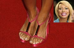 Keri Hilson's ugly bunions! Oh dear Bunions - ouch looks painful!! if you would like to be able to wear shoes, sandals and boots again without being in pain take a look at Meanfeet's range of Wide Fitting Bunion Relief Footwear at www.meanfeet.com