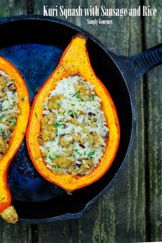 Simply Gourmet: Kuri Squash with Sausage and Rice