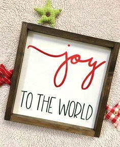 Joy to the World Framed Sign Christmas Wood Sign Christmas