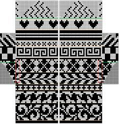fair isle mittens pattern free - Google Search