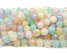 """8MM ROSE PINK DRAGON VEIN AGATE GEMSTONE FACETED ROUND LOOSE BEADS 14.5/"""""""