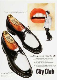 big sale b6627 b15e8 1950s mens black and white shoes Decada, Moda Para Homens, Mocasines,  Zapatos,