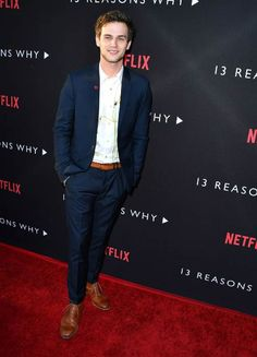 Brandon Flynn at the premiere of Netflix's 13 Reasons Why in March 2017...