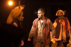 "officiallesmiz: ""Dennis Moench confronts Ramin Karimloo, as Valjean, in the Prologue Harvest scene. Photo by maxgordonphotography. Les Miserables, Music Theater, Theatre, Famous Musicals, Jean Valjean, 2012 Movie, Ramin Karimloo, Alan Rickman, Aidan Turner"