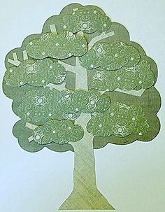 Free Paper Piecing Patterns of a Layered Tree: Sample Finished Paper Pieced Tree