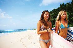 tan skin and beach waves