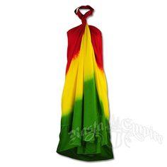 Rasta Tie-Dye Wrap Dress @ RastaEmpire.com