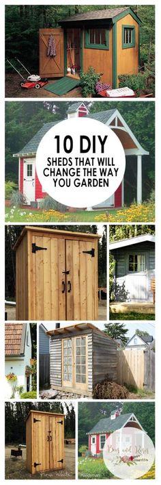 Garden Sheds, DIY Garden Sheds, Garden, Gardening, Gardening TIps and Tricks, DIY Garden Shed Plans, Garden Shed Tutorials, DIY Home Decor Tutorials, Home Decor Hacks.