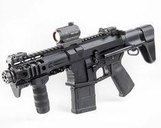 "SLR Rifleworks on Instagram: ""Another look at this @veritas_tactical 5.56 PDW. Wow. 5.25 Intrepid HG up front. @cqm_group #slrrifleworks #cqmgroup #igmilitia #weaponsdaily #dailybadass #gunsbadassery #nfafanatics #gunporn #sickguns #weaponsfanatics #dtom #gunsdaily #AR10 #ar15 #blackrifle #nfa #sbr #pistol #suppressed #suppressor #fullauto #rifle #guns #merica #pewpewpew #ak47 #guns #9mm #2ndamendment"""