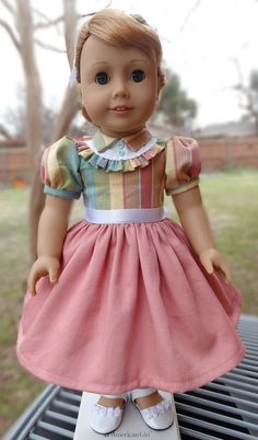 18 Doll Clothes 1950's Style Dress Fits American by Designed4Dolls