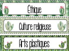 Plusieurs personnes nous écrivent afin de nous mentionner leur intérêt à avoir une classe sous le thème des cactus l'année prochaine. C'est... Classroom Organization, Classroom Decor, Classroom Management, Cactus, Becoming A Teacher, French Immersion, French Class, Cute Doodles, Teaching