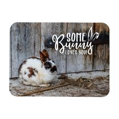 Some Bunny Loves You Message Reminder Magnet