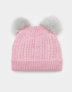 Ailsa Rose Pink Bobble Hat | Joules UK