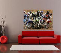 MOTOCROSS DIRT BIKES SPORT RACE MOTOR GIANT ART PRINT HOME DECOR POSTER  OZ2742 #Various