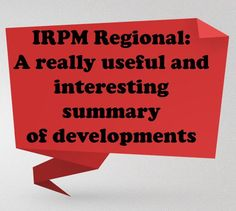 Feedback from the Stevenage & Newbury Regionals. Places are available in Leeds and Birmingham email info@irpm.org.uk