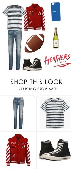 """Modern Ram Sweeney"" by the-blueglasses ❤ liked on Polyvore featuring Maison Margiela, J.Crew, Off-White, Converse, RVCA, modern, men's fashion and menswear"