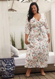 4c023b0c2a60 Influence shirred sleeve floral midi dress with button down front in ...