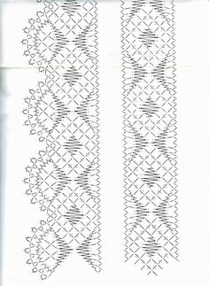Arts And Crafts Hobbies Product Shawl Crochet, Hairpin Lace Crochet, Filet Crochet, Crochet Motif, Crochet Edgings, Bobbin Lace Patterns, Loom Patterns, Bobbin Lacemaking, Border Embroidery Designs