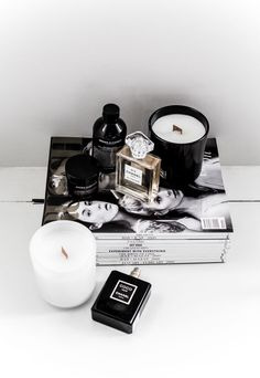 MODERN LEGACY Chanel No 5 perfume Noir glass candles black white Michael Kors gold watch RUSSH magazine (1 of 1)