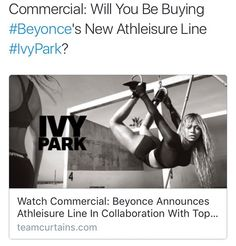 In collaboration with Topshop#Beyonce serves us fashion no not through her clothing brand House of Dereon #IvyPark. As the Queen Bey gears upto sting us with her sixthalbum the 34-year old brings the heat before the storm with new activewear which she has beenworking on in collaboration with Topshop for over a year set to launch on April 14thonline at Toyshop and in stores Nordstrom Selfridges Net-A-Porter Hudson Bay and more. . . In a statement Topshop wrote Topshop announces the arrival of…