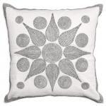 - Starburst Beaded Linen Throw Pillow