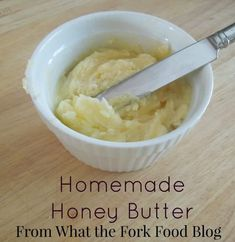 Homemade honey butter is one variety of a compound butter. Mix in fruit, cinnamon, or preserves to have for breakfast or brunch. The choices are endless! Gluten Free Banana Bread, Gluten Free Flour, Banana Bread Recipes, Homemade White Bread, Homemade Butter, Cinnamon Honey Butter, Bacon On The Grill, Dairy Free Diet, Lava Cakes