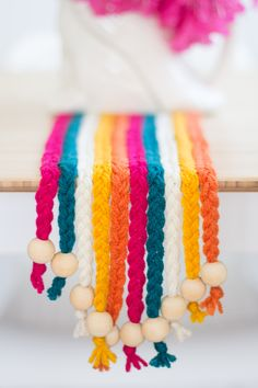 DIY Braided Yarn Table Runner | Pretty Prudent