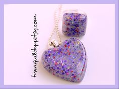 Cosmic Heart Necklace Cosmic Grape Glitter Heart Necklace Adjustable Ring Resin Grape Frosting  ,Handmade By: Tranquilityy by tranquilityy on Etsy