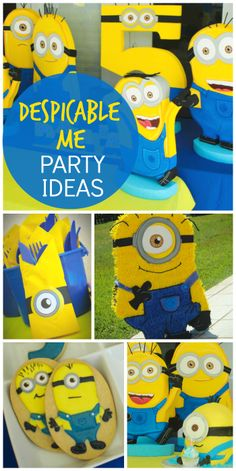 What an awesome Despicable Me boy birthday party with all the Minions there! See more party ideas at CatchMyParty.com!