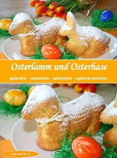 Glutenfreie Backwaren für Ostern! Osterlamm und Osterhase! www.rezepte-glutenfrei.de