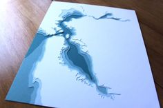 Pretty papercuts showing beautiful water--this San Francisco Bay piece would be a fun way to honor our old stomping grounds. Professional Photo Lab, San Francisco Bay, First Photograph, Print Pictures, Country Girls, Geography, Paper Cutting, Vintage Photos, Paper Art