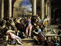 The Purification of the Temple // GRECO, El (b. 1541, Candia, d. 1614, Toledo)