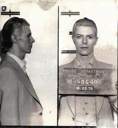 David Bowie's mugshot.